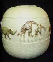 The Walk (African animals walking around the pot)