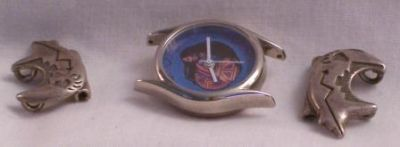 Watch with Basket Weaver Face