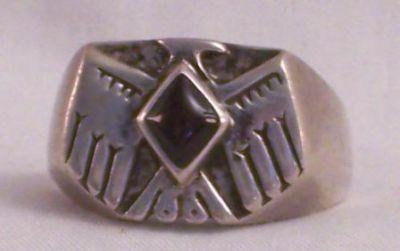 Thunderbird Men's Ring, Onyx