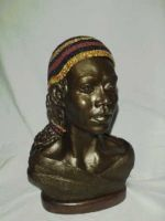African Lady with Beaded Cap