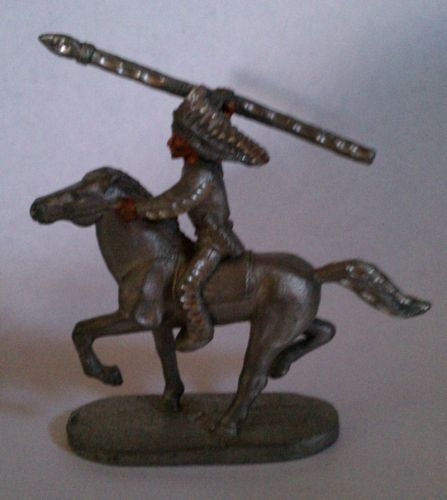 Native on Horse with Spear #PP1137